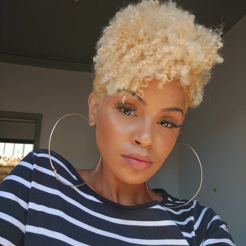 Blonde Tapered Haircut
