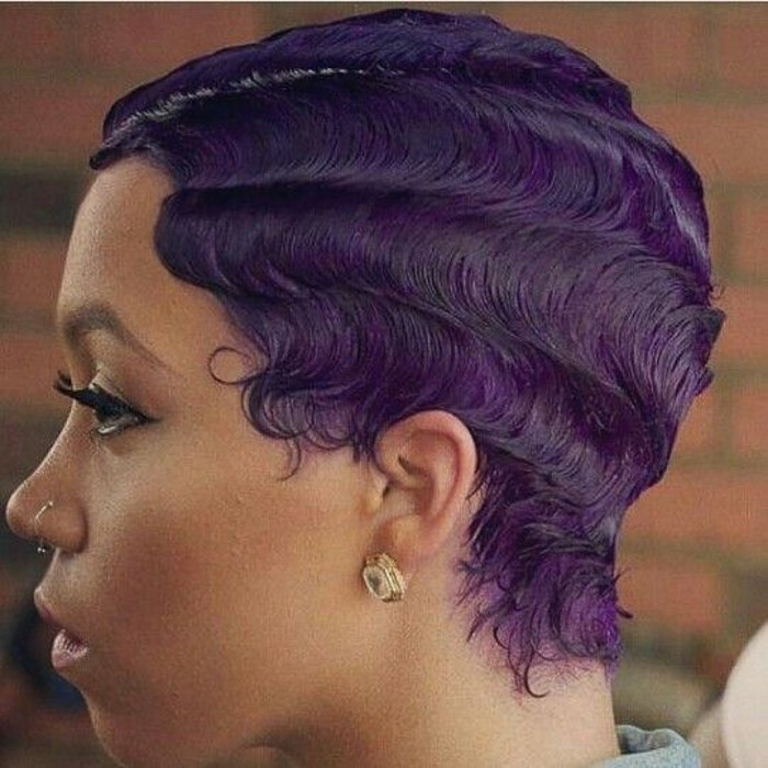 Purple Finger Waves
