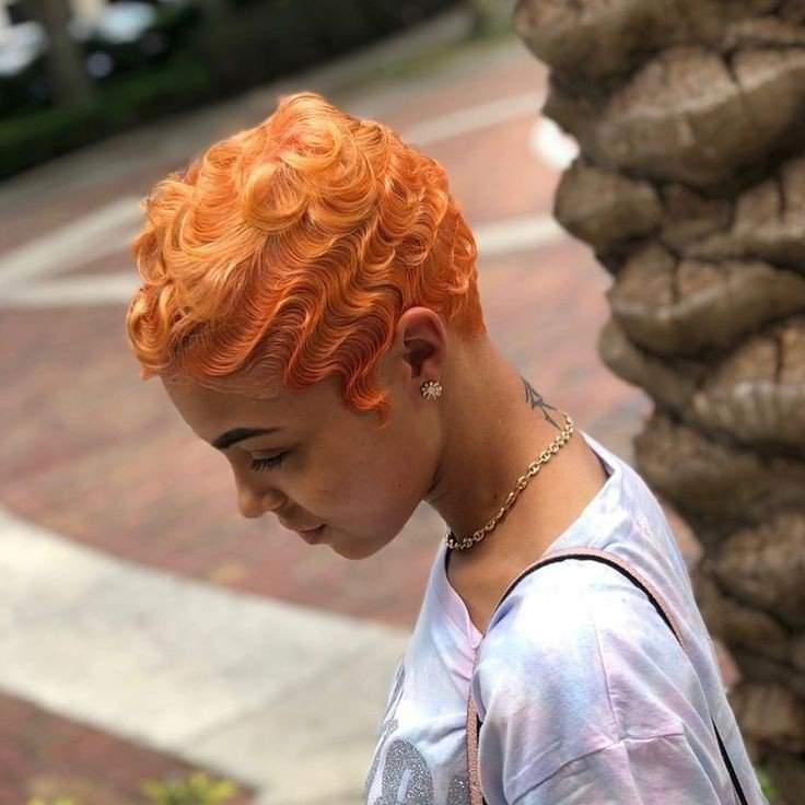 Orange Finger Waves