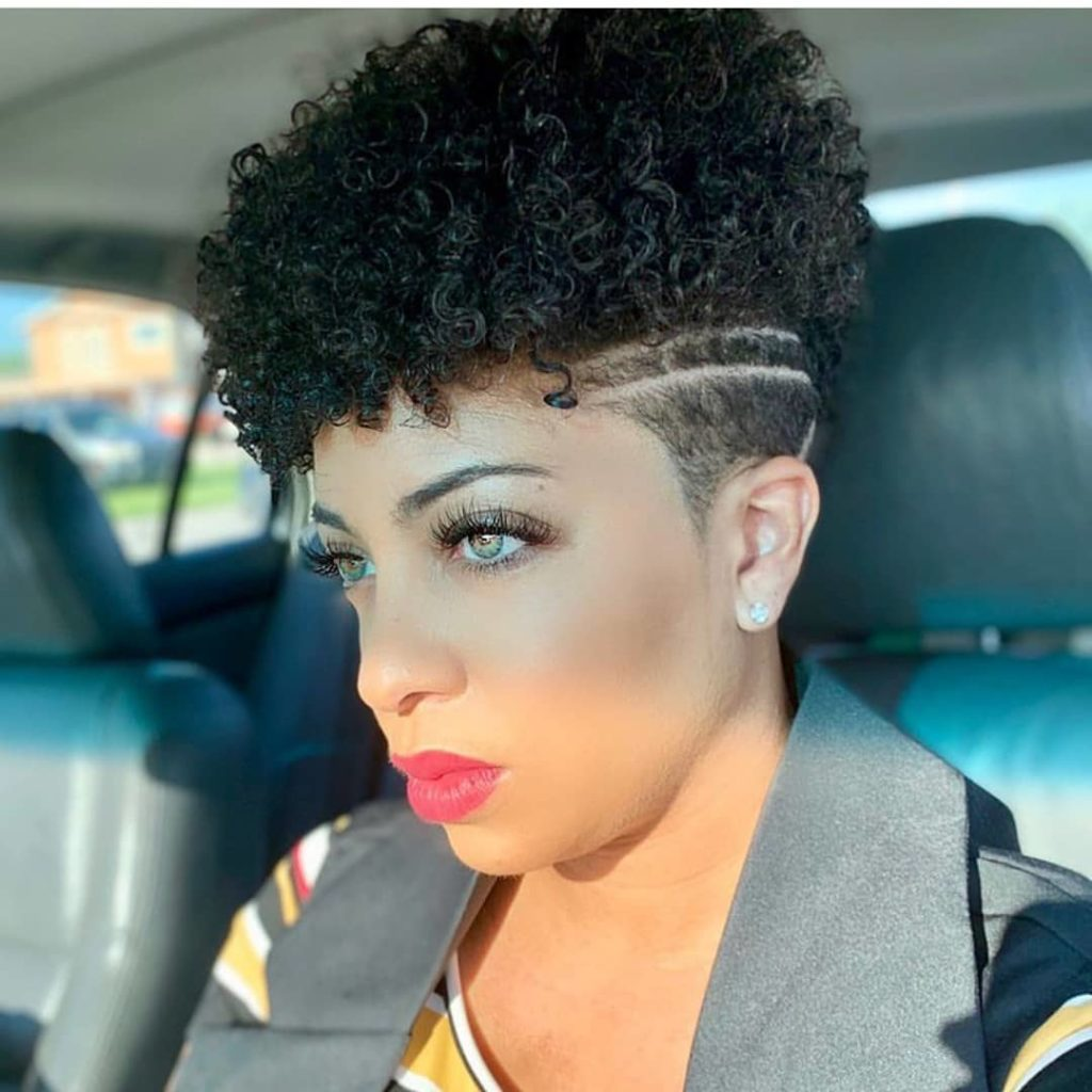 High Curl Tapered Haircut