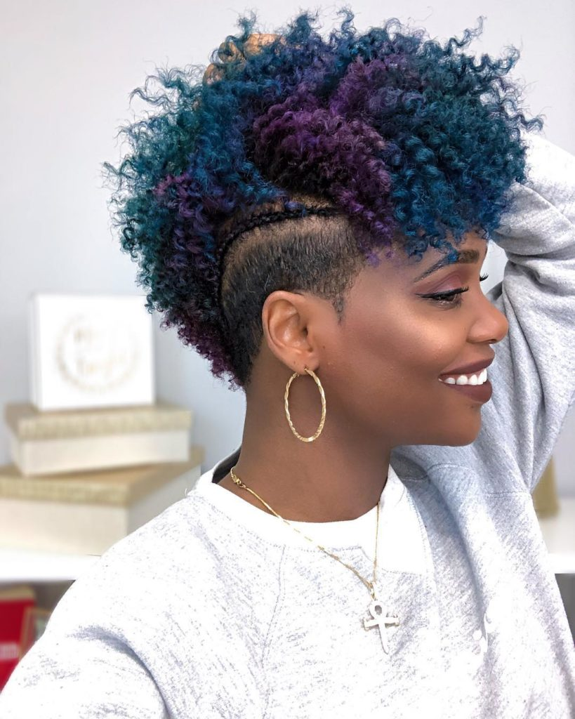 Multi-Colored Tapered Haircut