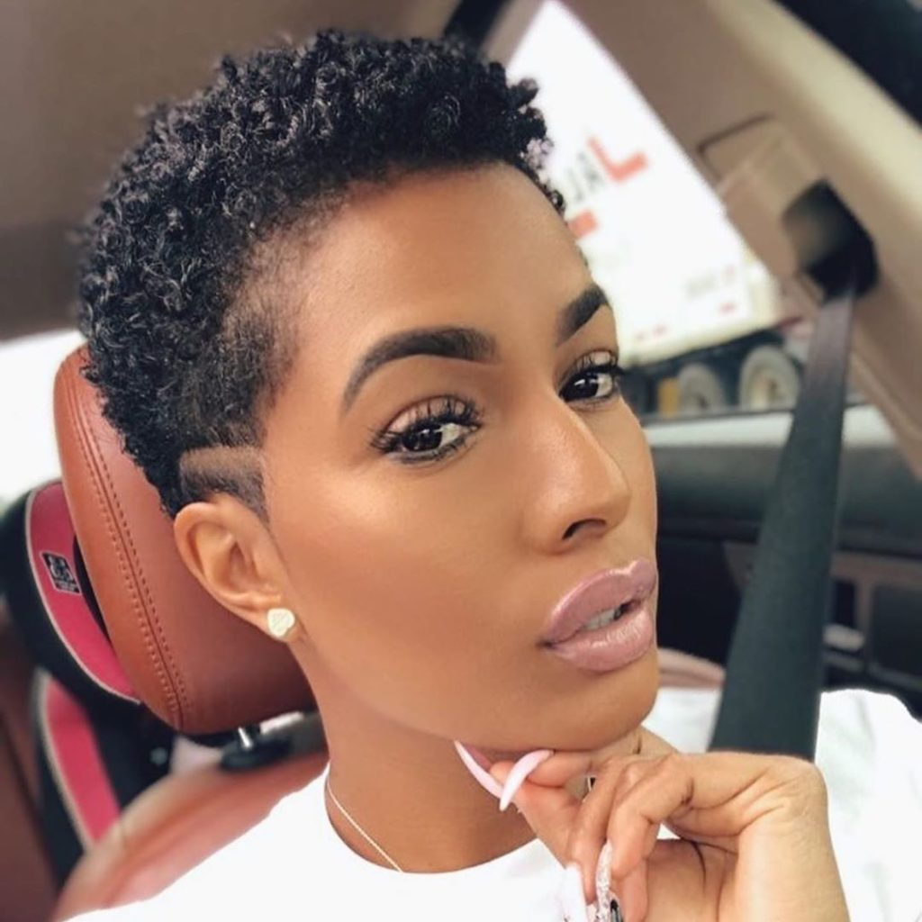 Short Curly Tapered Haircut